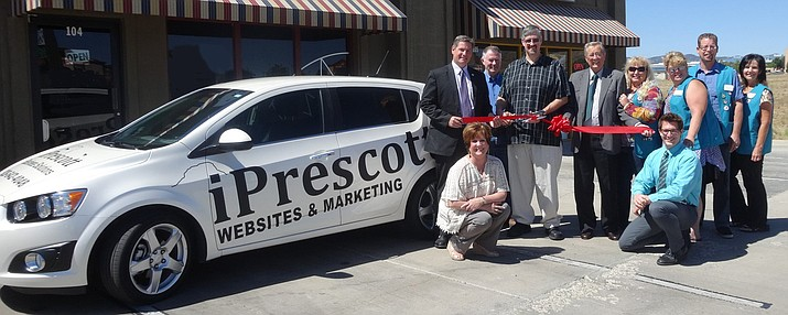 The Prescott Valley Chamber of Commerce was happy to welcome new member, iPrescott Business Solutions, with a ribbon cutting on Tuesday, June 14.