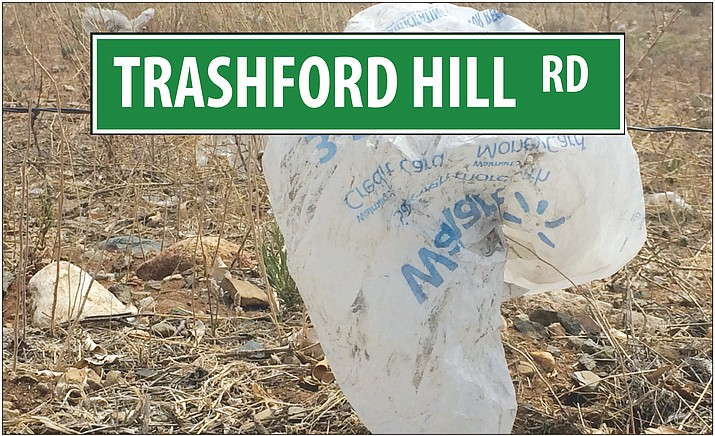Prescott Valley residents have been complaining about the trash that accumulates near Glassford Hill Road.