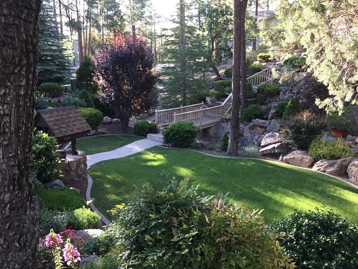 Christine Robinson's garden at 1919 Timber Point West is the Alta Vista Garden Club's July Garden of the Month.