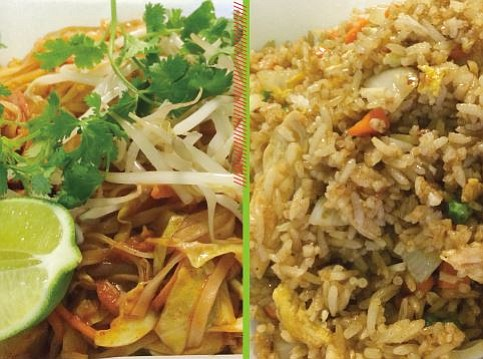 Pad Thai and fried rice at Taiphoon