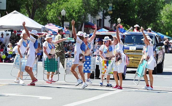 The Prescott Frontier Days Parade.