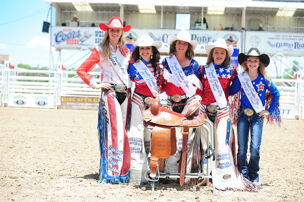 2016 and 2017 Prescott Frontier Days Rodeo Royalty (Les Stukenberg/The Daily Courier) (Les Stukenberg/The Daily Courier)