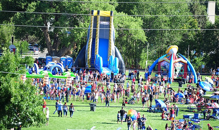 Inflatables, food and live music were central to the 2016 Fourth of July festivities on the Prescott Mile High football field in downtown Prescott.