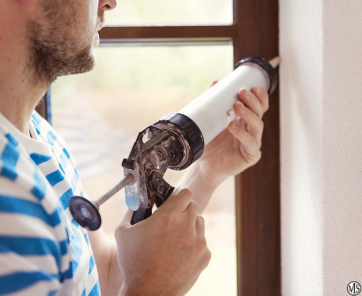 Caulk windows twice a year to ensure a proper seal for both cooling and heating season.