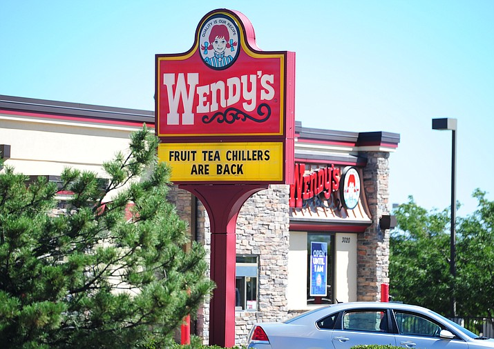 Wendy's said Thursday, July 7 that hackers were able to breach security at 1,025 of its U.S. restaurants, including the one in Prescott Valley, stealing customers' credit and debit card details. The hamburger chain said hackers were able to obtain card numbers, names, expiration dates and codes on the card, beginning in late fall. Some customers' cards were used to make fraudulent purchases at other stores. The company said transactions at the Prescott Valley location made between Jan. 13 and June 8 were potentially affected. (Les Stukenberg/The Daily Courier)