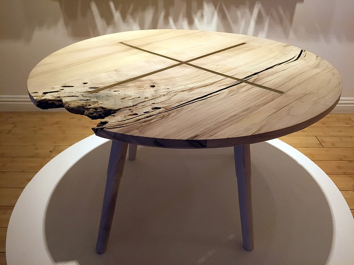 """The """"Lorca Coffee Table,"""" by designer Casey Dzierlenga, is part of the exhibit """"Windfall"""" at the Craft and Folk Art Museum in Los Angeles until Sept. 4, featuring works by members of the L.A.-based Box Collective group of eco-conscious furniture makers and designers, using wood sourced from trees in Los Angeles County destroyed in a severe overnight windstorm on Nov. 30, 2011."""