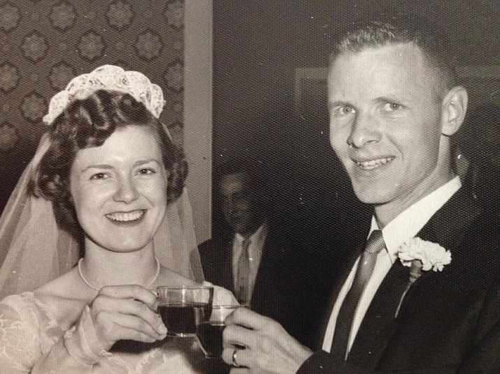 Joe and Sue Clyne were married June 2, 1956 in the chapel of St. Simon and Jude Cathedral in Indianapolis, IN.