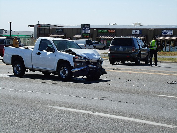 A five-vehicle crash shut down part of Highway 69 near Glassford Hill Friday morning. A pickup, driven by a 19-year-old man struck the back of a car, knocking it into oncoming traffic.