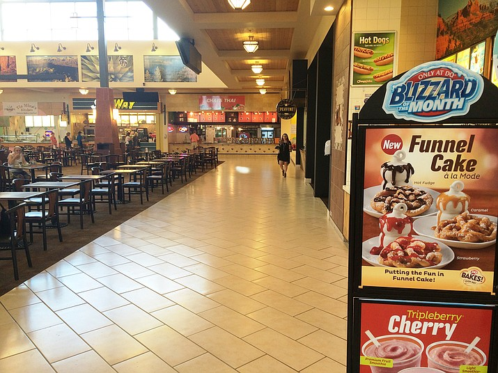The mall's food court now has a food vendor in every stall.