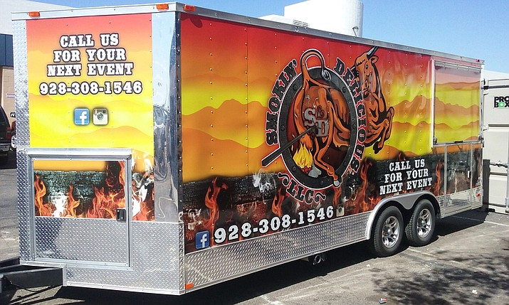 Smokin' Delicious LLC is one of several area mobile food vendors looking to more easily do business in Prescott if the city would allow them.