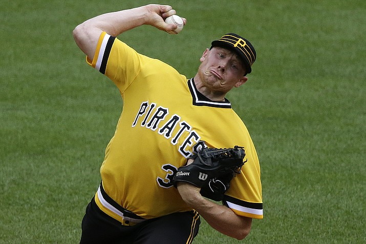 Pittsburgh Pirates closer Mark Melancon delivers in the ninth inning of a baseball game against the Philadelphia Phillies in Pittsburgh, Sunday, July 24, 2016.