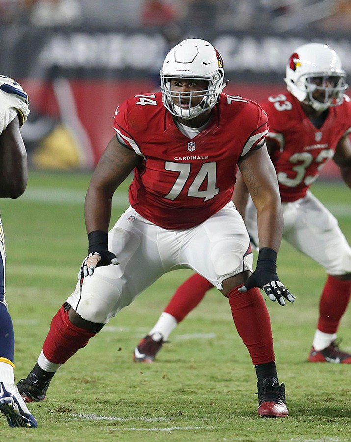 "Humphries earned the nickname ""Knee Deep"" from coach Bruce Arians because that's how far his foot had to be up Humphries' rear end to get his attention. (Rick Scuteri / Associated Press)"