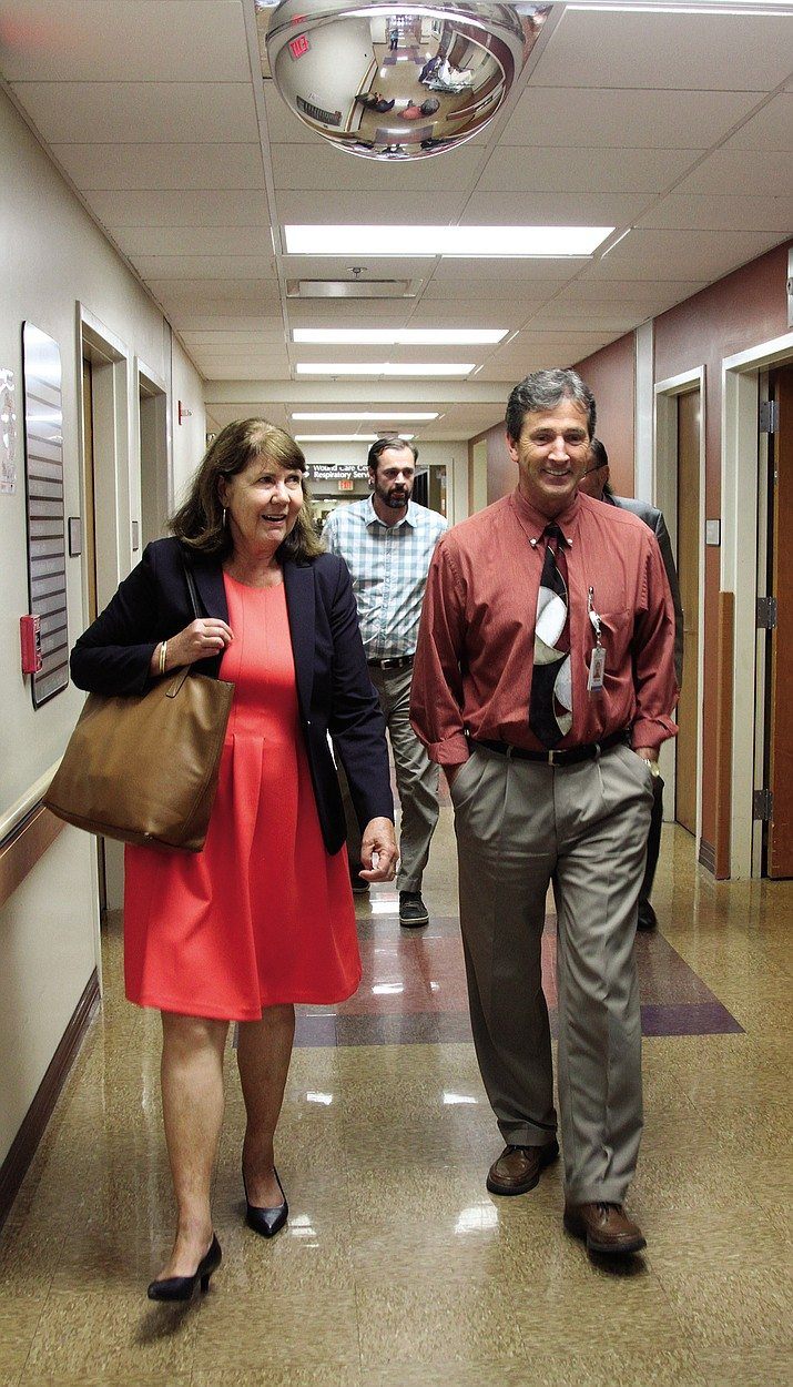 Ann Kirkpatrick with KRMC CEO Brian Turney