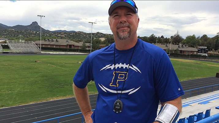 New Prescott Badger football head coach Michael Gilpin enters his first season looking to continue the foundation laid by those who came before him. (Brian M. Bergner Jr./The Daily Courier)