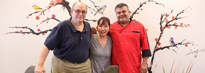 The owners, Bob and Song Viener, and head chef, Adrian Rodriguez, of Ginza Sushi & Asian Cuisine opened the new downtown Prescott restaurant about a month ago.