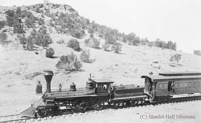 The F. W. Tritle, first train to reach Prescott, January 1, 1887