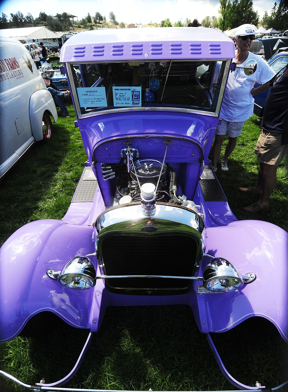 This 1929 Model A Ford is just one of hundreds of cars, trucks, and parts vendors at the 42nd Annual Prescott Antique Auto Club show at Watson Lake Park Saturday. The show continues all day on Sunday.  (Les Stukenberg/The Daily Courier)