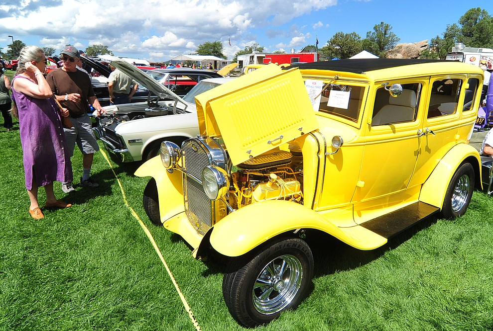 This 1931 Ford was just one of hundreds of cars, trucks, and parts vendors at the 42nd Annual Prescott Antique Auto Club show at Watson Lake Park Saturday. The show continues all day on Sunday.  (Les Stukenberg/The Daily Courier)