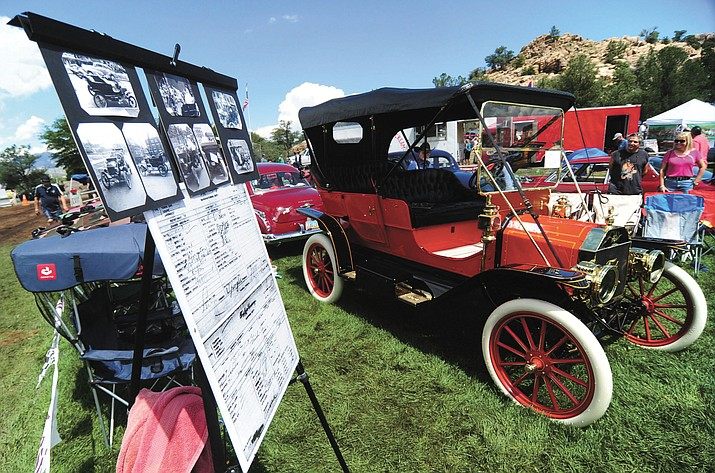 This 1910 Ford was a hit among the hundreds of cars, trucks, and parts vendors at the 42nd Annual Prescott Antique Auto Club show at Watson Lake Park Saturday. The show continues Sunday.