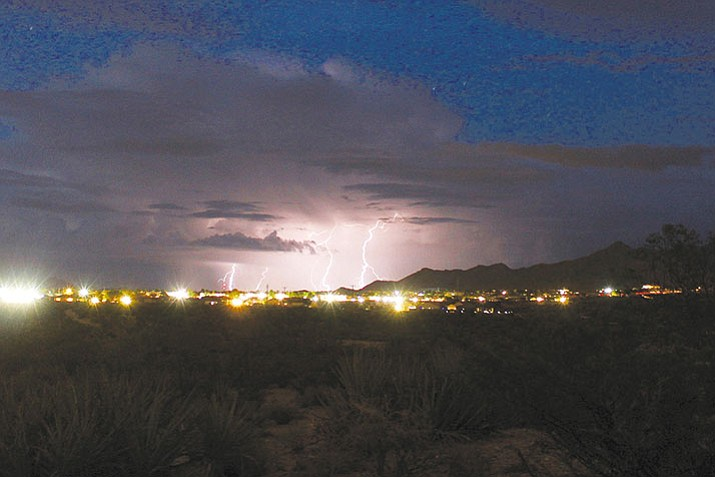 Lightning storm over Kingman during the August monsoon.