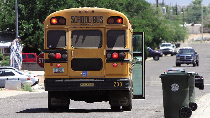 School bus in Kingman, photographed Thursday.