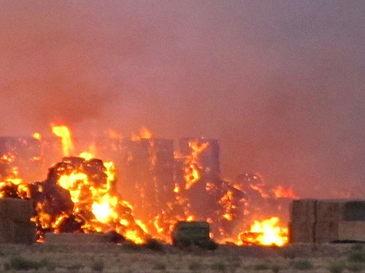 A hay fire was quickly contained Sunday by the Northern Arizona Consolidated Fire District No. 1.
