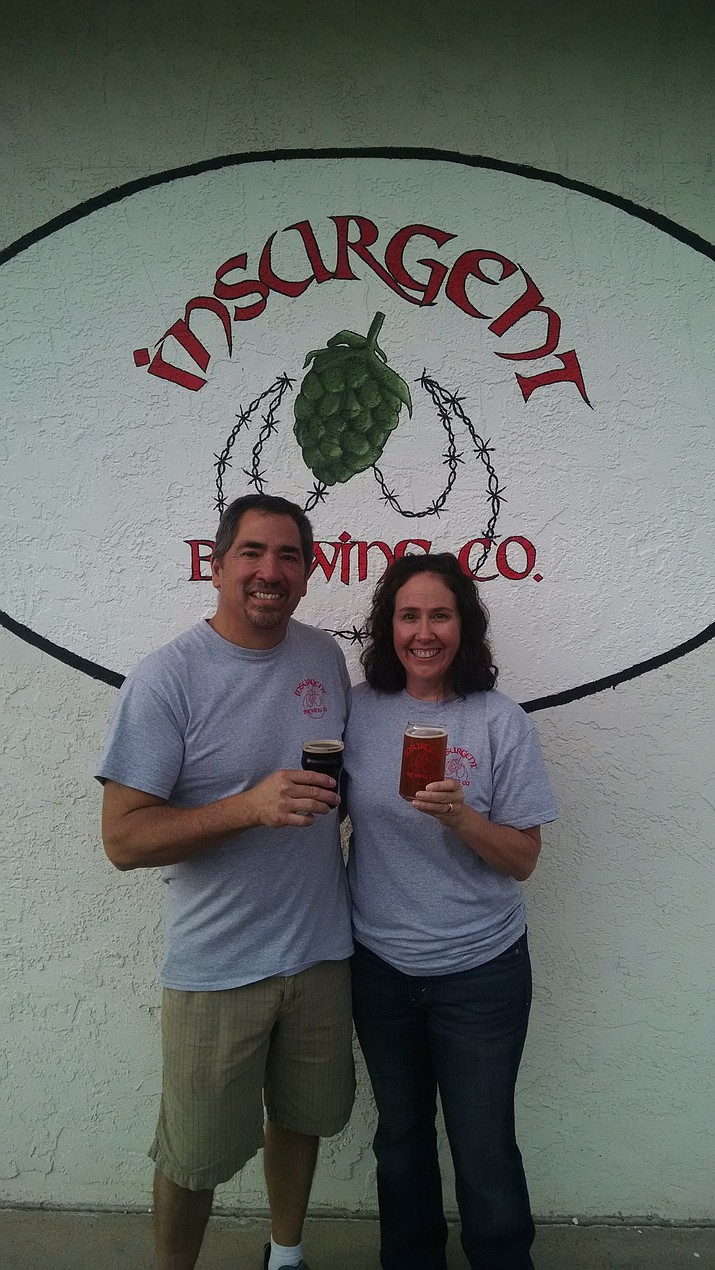 Rob and Laura Valenzuela are the owners of Insurgent Brewing Company, which recently opened in Chino Valley. (Courtesy photo)