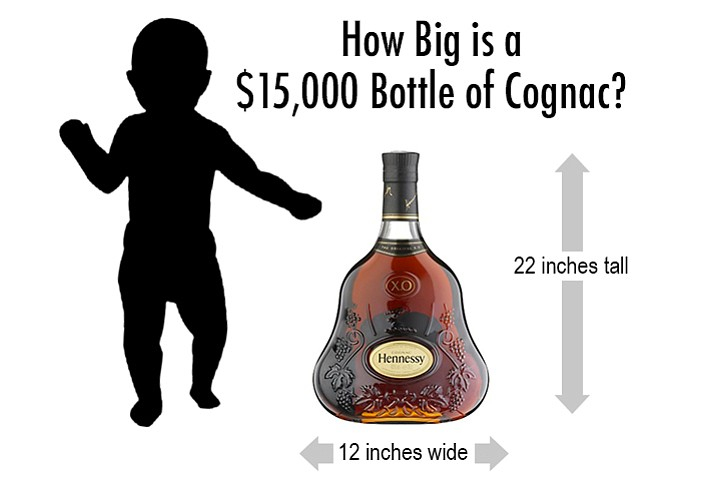 The stolen bottle of Hennessy XO Cognac worth $15,000 was among items stolen during a break-in Aug. 1 or 2 at a suite at a commercial building in Foxborough, Mass. (Similar bottle shown in illustration.) Cognac, named after the town of Cognac in France, is a variety of brandy.