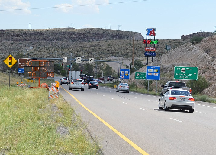 Work to improve the Interstate 40 and U.S. 93 interchange begins Sunday and will last for the next couple of months, according to the Arizona Department of Transportation.