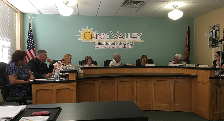 The Chino Valley Unified School District Governing Board meets the second Mondays of most months.