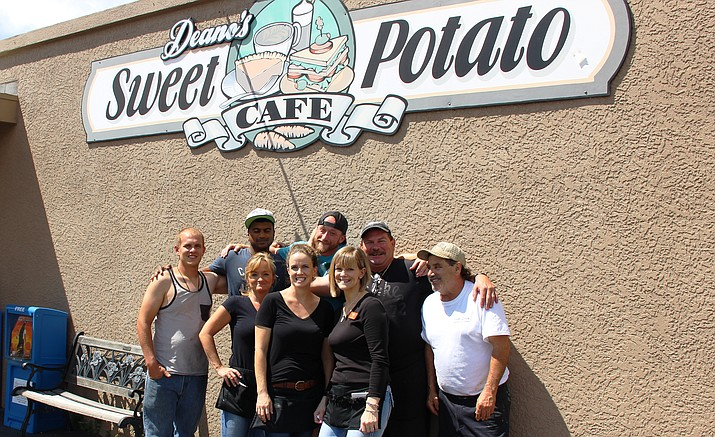 The staff of Deano's Sweet Potato Cafe.