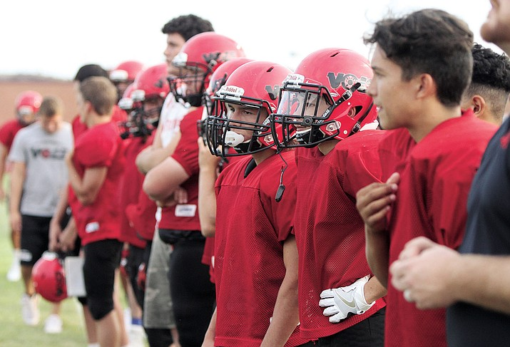 The Vols were lined up and ready to face Wickenburg last Friday at LWHS. Kingman High, Kingman Academy and Lee Williams High are ready to pad up and hit something as the 2016 prep football season is set to begin.