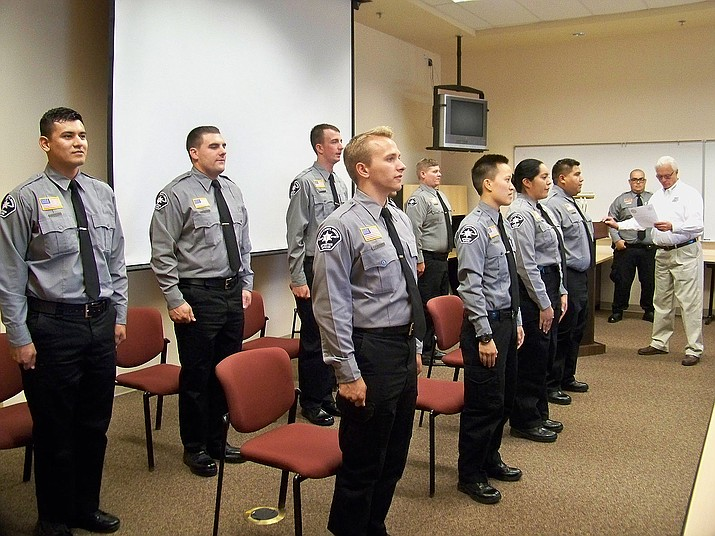 Nine Mohave County Sheriff detention officer graduates, Aug. 17, 2016.