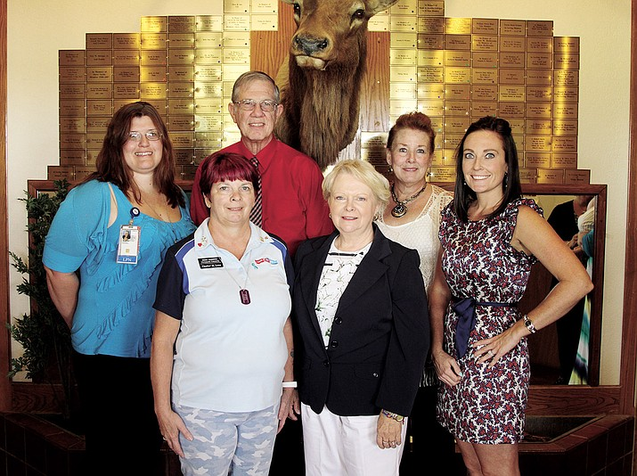 From left to right are Stephanie Stephan, LPN Woman's Health Liaison, Charlee Long, JAVC, Mayor Dick Anderson, Dr. Debra Bennet, Western Regional Manager of Western Arizona Regional Community Outreach Outpatient Clinic, Susan Johnson-Molina, Women Veteran's Project Manager for NAVAHCS (Northern Arizona Veteran's Administration Health Care System) and Alexis Stewart, MSW, LISW-S, VA Center in Golden Valley.