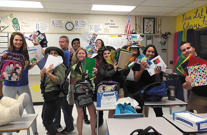 Thirteen-year KHS English teacher and former Louisiana resident Jennifer Jackson and students help Louisiana flood victims.
