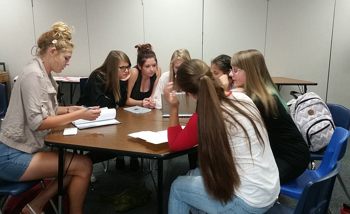 Students work on planning Homecoming events for Chino Valley High.