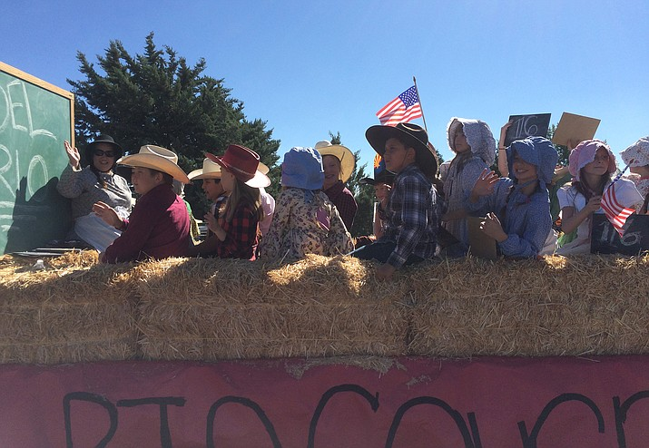 Students from Del Rio Elementary School participate in the 30th annual Territorial Days parade on Saturday, Sept. 3, 2016. There were more than 40 participants in the parade.