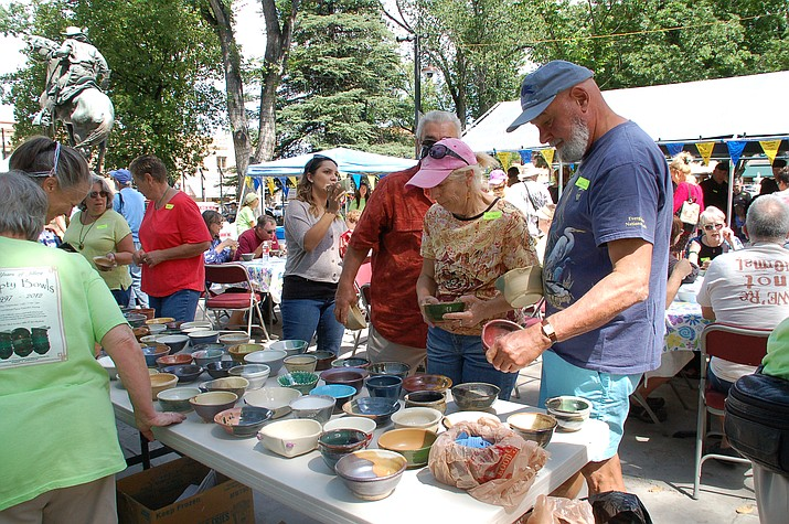The 2015 Empty Bowls event, with the choice of bowls as well as a variety of soups by local chefs, raised thousands of dollars for local food banks, community cupboards and pantries. This year's event, on the courthouse plaza, is Sunday, Sept. 11.