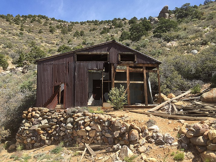 This shack at the Rainbow Mine site in Chloride is close to worthless, but a Realtor believes the right buyer could make his or her fortune by mining the ground it stands on.