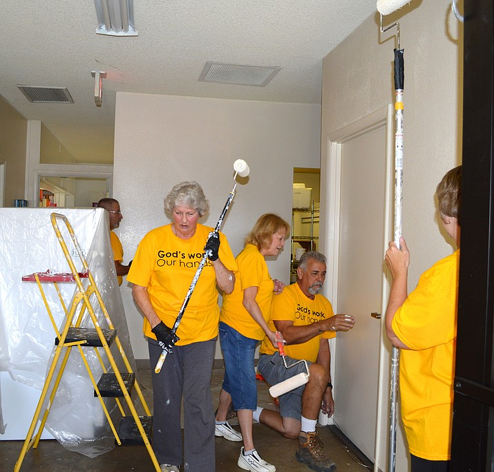 "Members of Emmanuel Lutheran Church in Prescott Valley participate in ""God's Work, Our Hands Sunday"" in 2015. The 2016 event is this Sunday, Sept. 11."