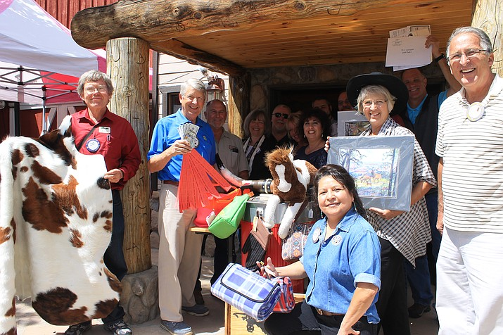 Williams Rotary members collect donations for the Western Auction Oct. 29.