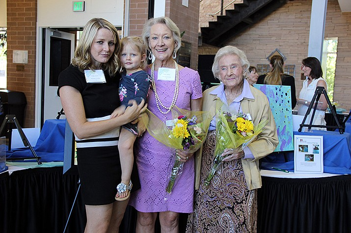 From left, Chelly Herren, Everly Herren, Becky Ruffner and Elisabeth Ruffner were the honorary co-chairs of this year's Framing the Future Brunch fundraiser hosted by Friends of the Family Enrichment Center.