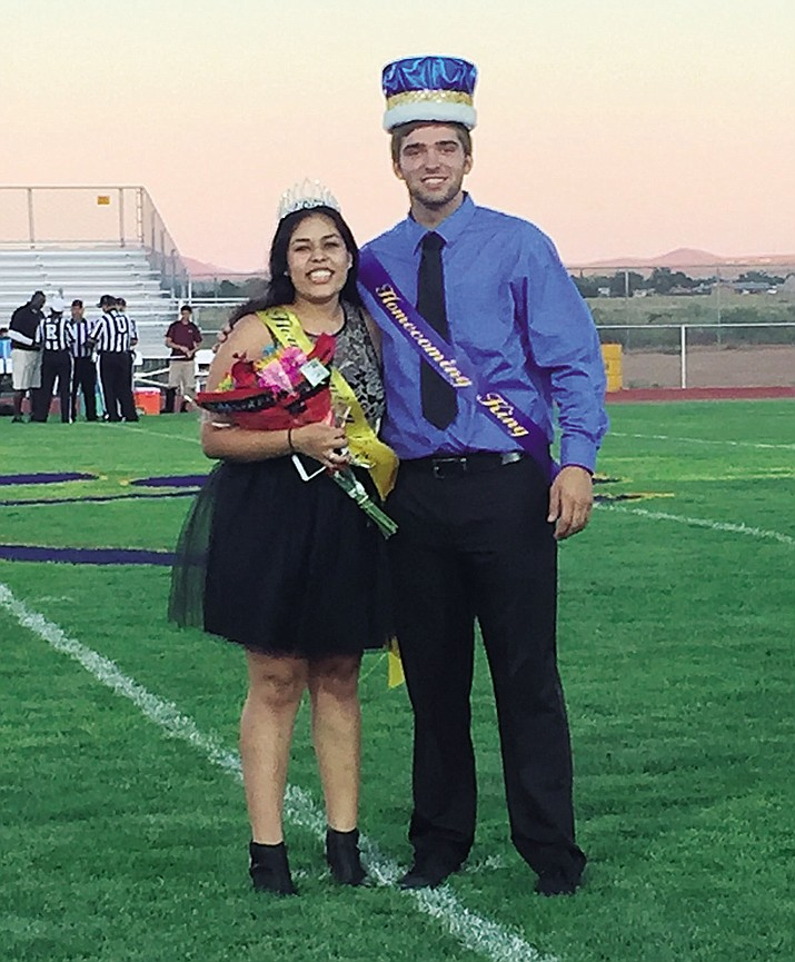 Martha Aguilar and Anthony Pinto are Kingman High School's Homecoming Queen and King.