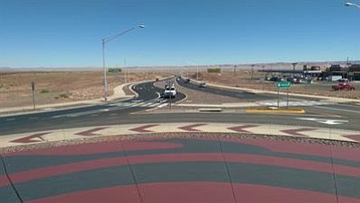 Improvements to U.S. 89 in Cameron include a new roundabout for the Highway 64 and U.S. 89 interchange. Photo/courtesy of Arizona Department of Transportation