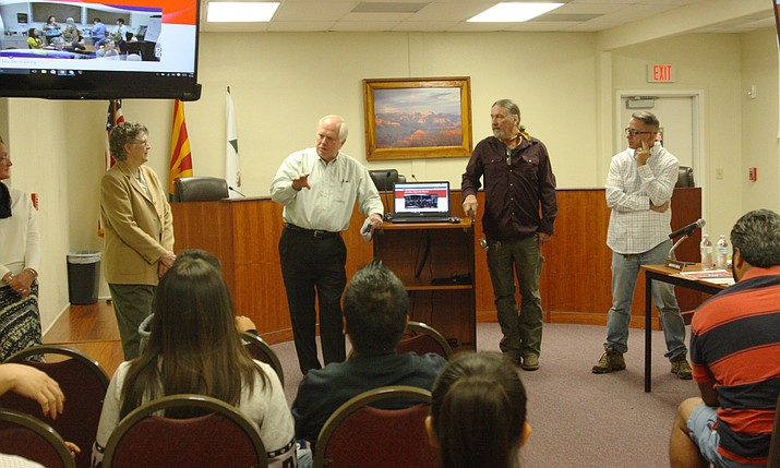 Grand Canyon School administrators hold a community meet and greet in Tusayan Sept. 14.