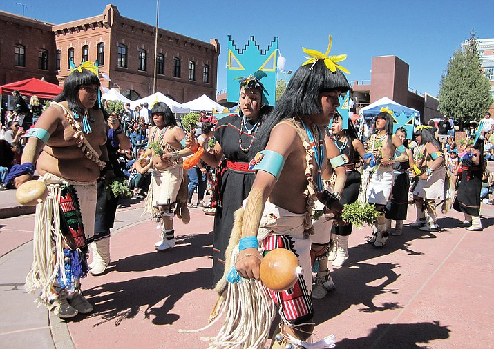 VIsitors to the Hopi All Native Arts and Culture Festival learn about and experience traditional dancing and music and can purchase work from artisans Sept. 24-25 in downtown Flagstaff at the 7th annjual Hopi All Native Arts and Culture Festival. Katherine Locke/NHO