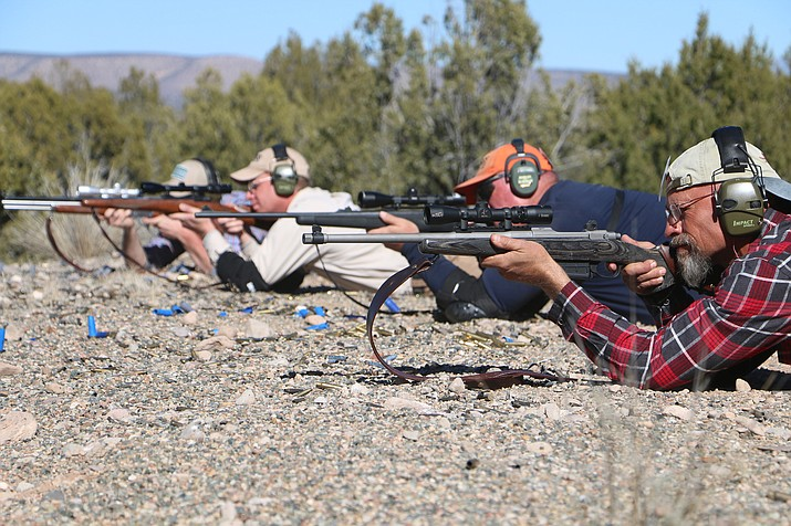 Students participate in rifle training at Gunsite Academy between Chino Valley and Paulden. The training center is celebrating 40 years. (Jane Anne Shimizu/Courtesy photo)