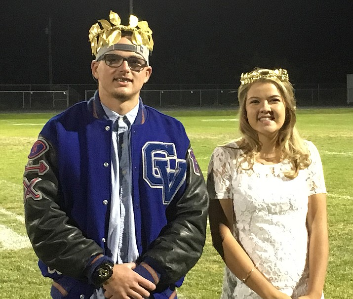 Tyler Gianfrancesco and Josie Cutlip were named Chino Valley High School's Homecoming king and queen during halftime of Friday's football game against North Pointe. To see a video of the entire court.