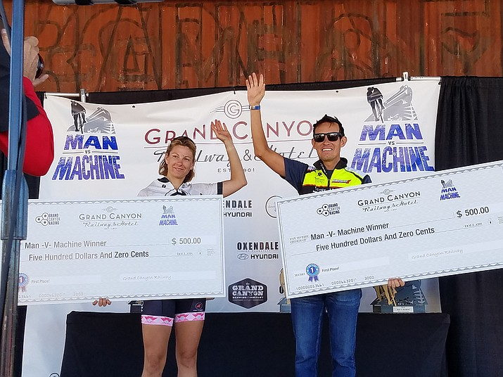 Men's and Women's overall winners Amy Chandos and Rob Alvarez each take home $500.