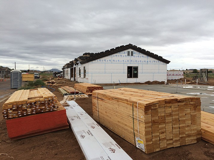 Cantrell Development is building these new homes on Meadowbrook Lane. Housing construction is on the upswing in Kingman, as the city reported 10 new single-family residence building permits issued in the week of Sept. 8-15 with a total valuation of nearly $1.5 million.